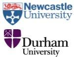 Newcastle and Durham University logos